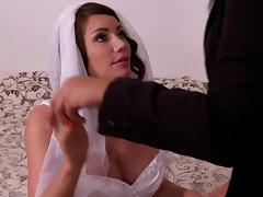 Bride, Angry, Big Tits, Bondage, Bra, Bride