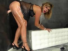 Strong dildo fuck by blonde Ani Black Fox