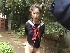 Bondage, Asian, BDSM, Blowjob, Bondage, Garden