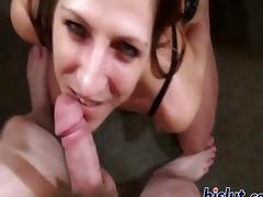 Marie is a deep throat cock slut