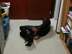 Catsuit Self Bondage Hogtie 2