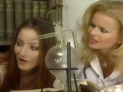 Seductive babes in uniform giving a terrific blowjob till they get a facial in FFM
