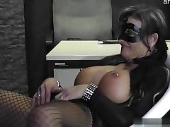 Glamour girl fucked at work