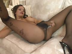 sexy voiced babe in pantyhose