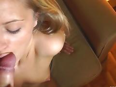 Amateur showing off her blowjob skills