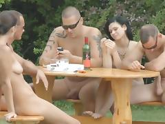 Group sex along nasty Diana Stewart porn tube video