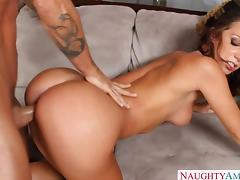 Hot brunette Jada Stevens take cock