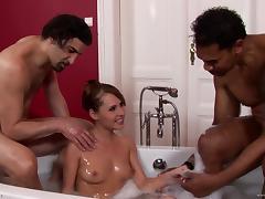 Bath, Bath, Double, Facial, Interracial, MMF