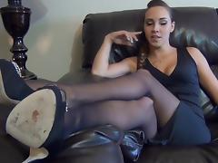 Sasha feet black nylon porn tube video