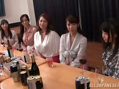 Doting Japanese girls at a party getting drunk then yell as they get fingered porn tube video