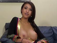Jayden Lee gets her pussy banged and takes cumshot on her tits porn tube video