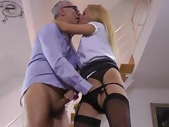 Milf in hot lingerie gets busy with a fat dong