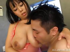 Dazzling cowgirl getting her big nipples fiddled before moaning while being banged hardcore