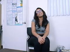 Curvy Latina Ava Sanchez gets drilled deep and hard in the office