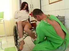 Elegant redhead babes in uniform getting drilled using toy in reality shoot