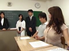 Teacher, Asian, Blowjob, College, Group, Japanese