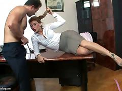 Office, Blowjob, Classy, Cougar, Couple, Drilled