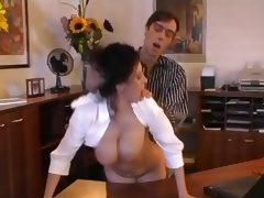 MILF, Big Tits, Brunette, MILF, Office, Secretary